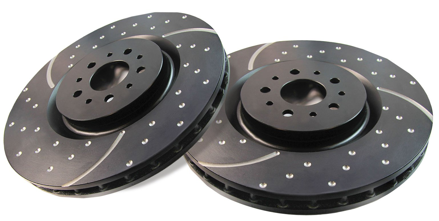 EBC 2007-2015 Toyota Tundra Brake Rotor Slotted And Dimpled - FRONT