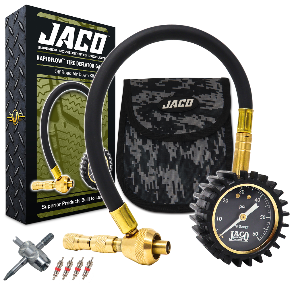 *NEW* - JACO RapidFlow Tire Deflator Gauge (0-60 PSI)