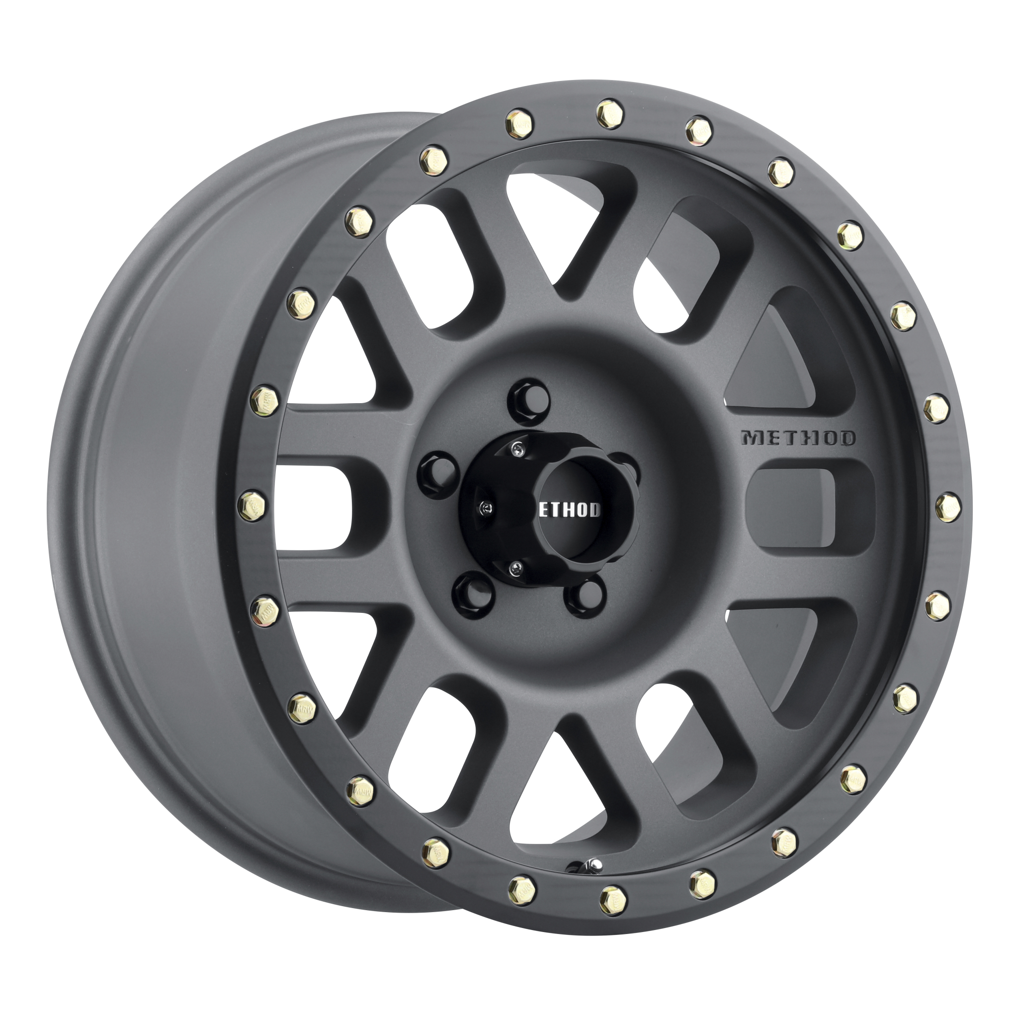 Method 309 Grid, 18x9, +18mm Offset, 5x150, 116.5mm Centerbore, Titanium/Black Street Loc