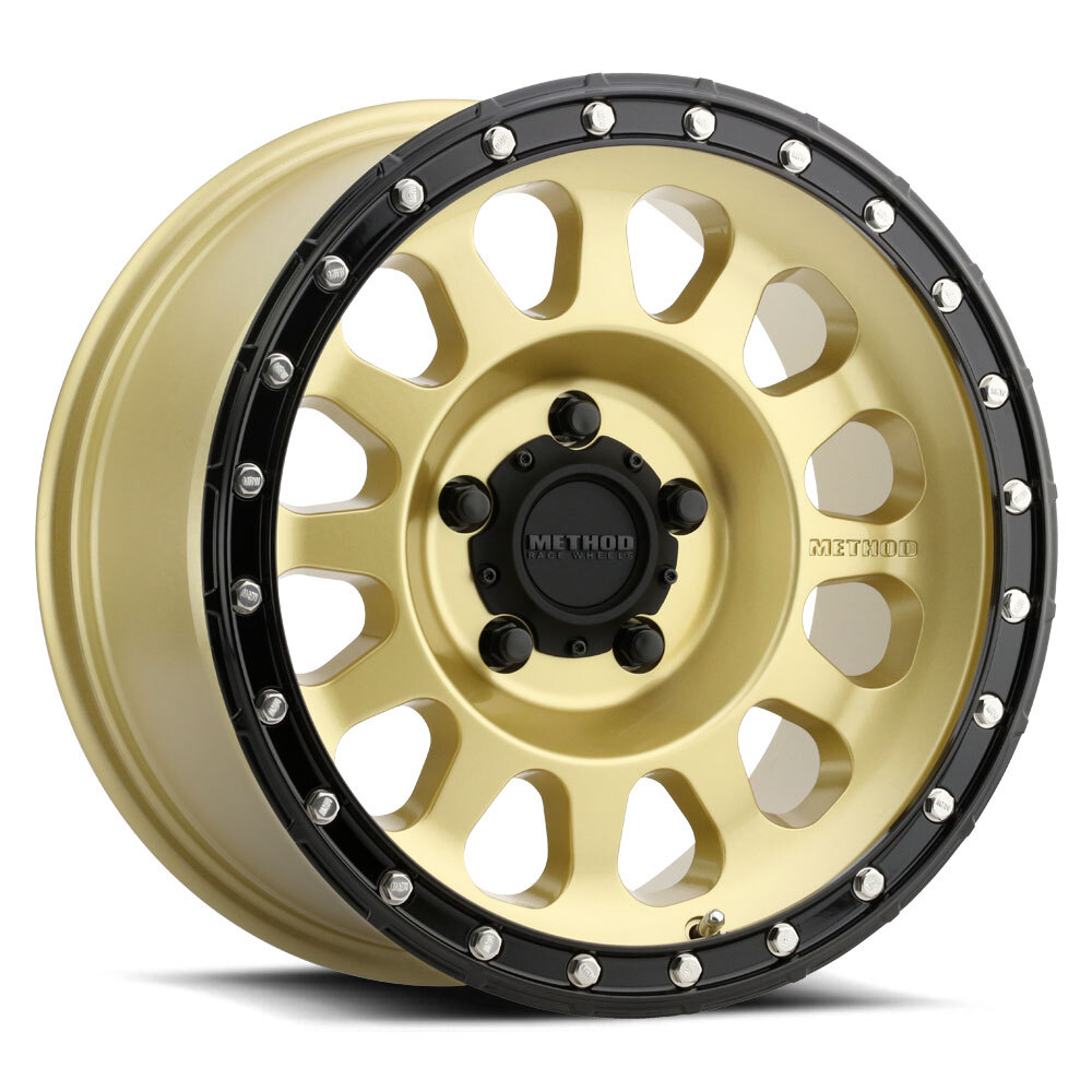 Method 315, 18x9, +18mm Offset, 5x150, 110.5mm Centerbore, Gold/Black Street Loc
