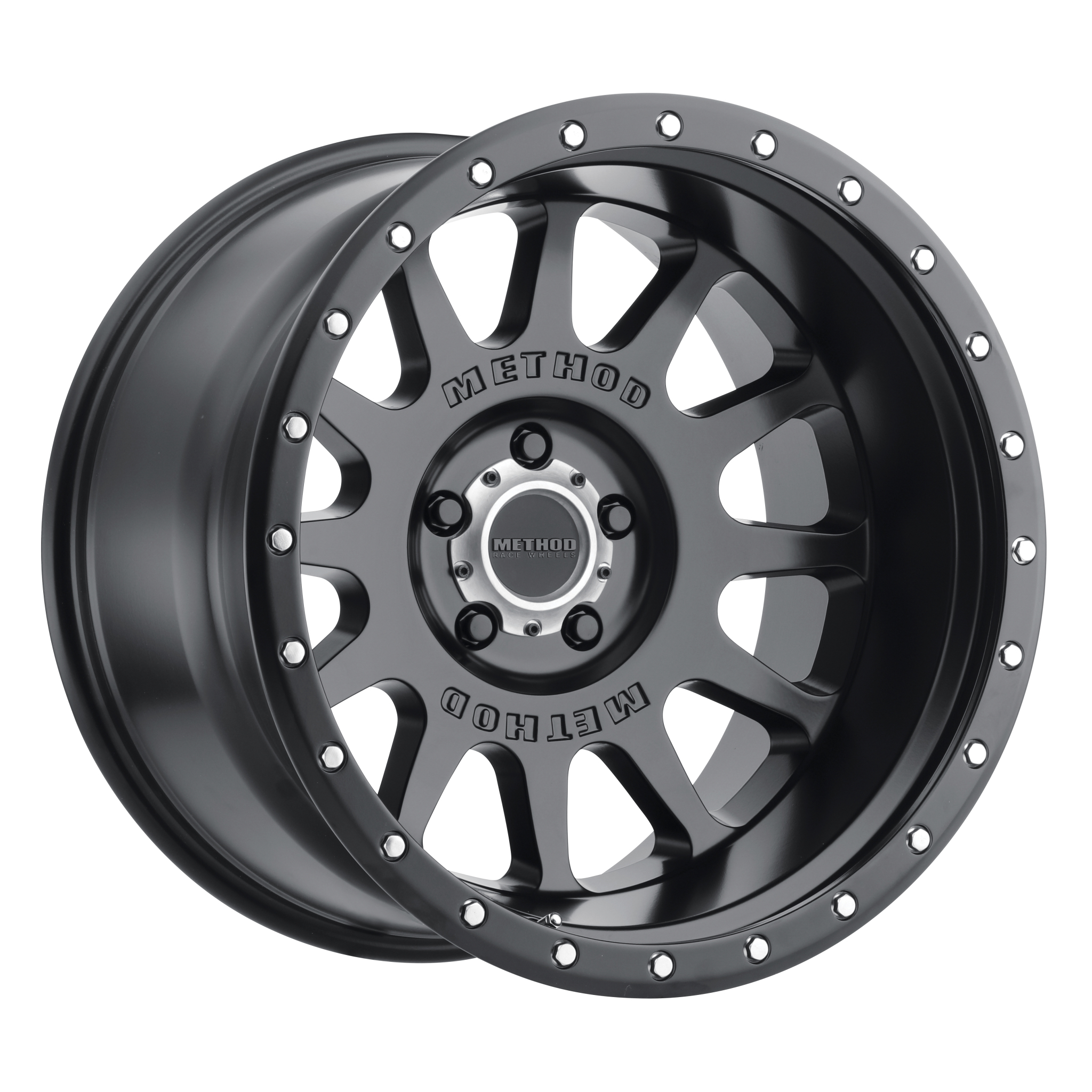 Method 605 NV, 20x9, -12mm Offset, 5x150, 110.5mm Centerbore, Matte Black