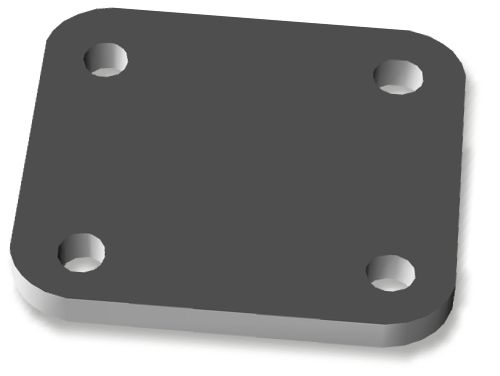 XD Bumper Shackle Mount Backing Plate - Single