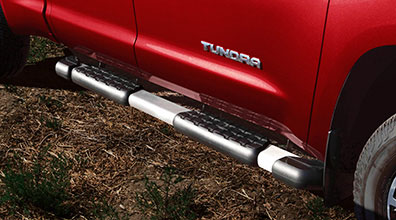 Brushed Stainless Step Board Kit TUNDRA DOUBLE CAB