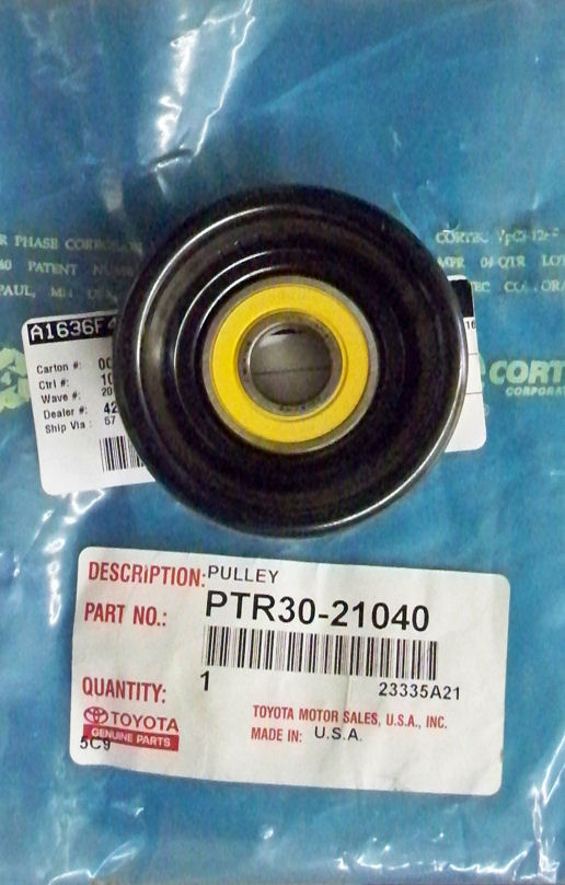 Steel idler pulley assembly: 3.0L V6, 3.4L V6 & 4.7L V8 TRD superchargers