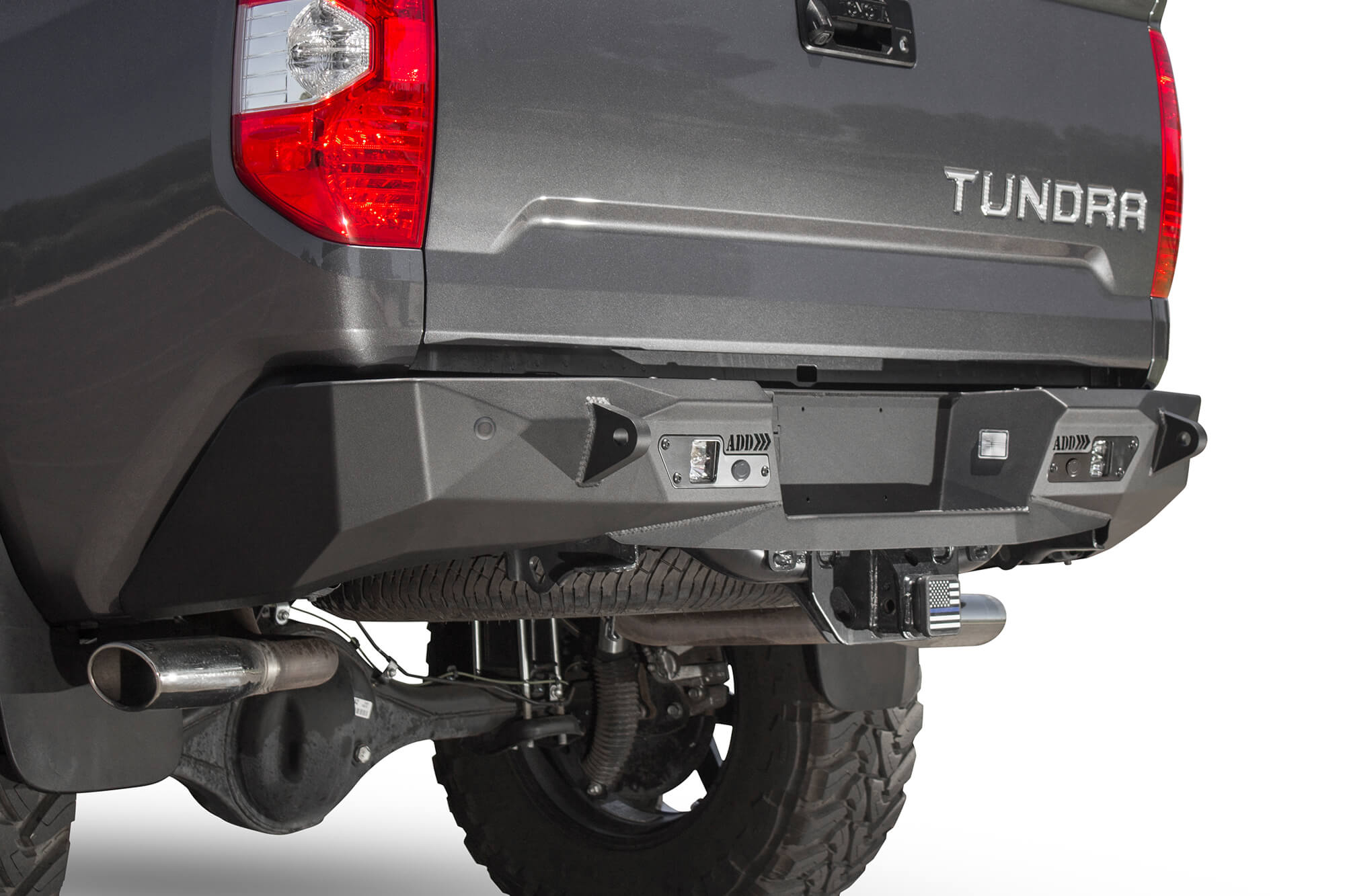 ADD 2014-2020 Toyota Tundra Stealth Fighter Rear Bumper W/ Sensors