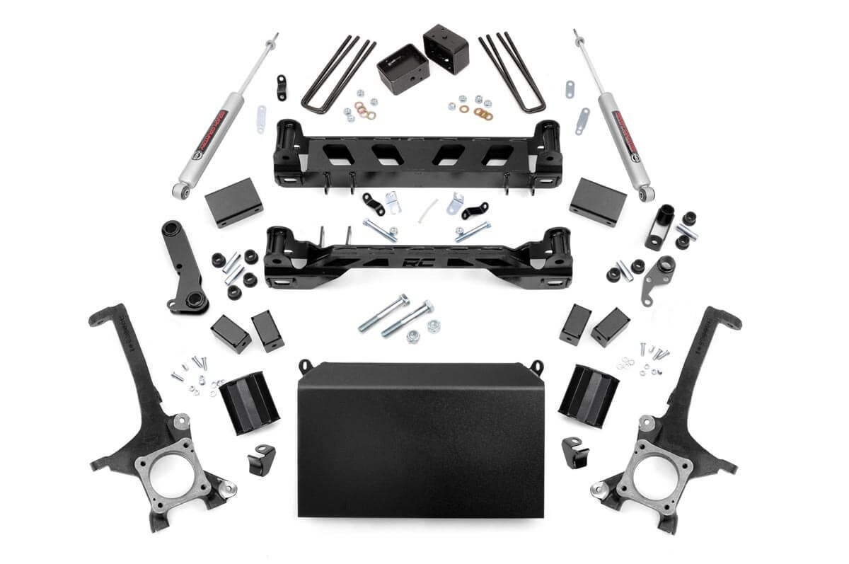 Rough Country 4 in. Toyota Suspension Lift Kit (16-20 Tundra 4WD/2WD)