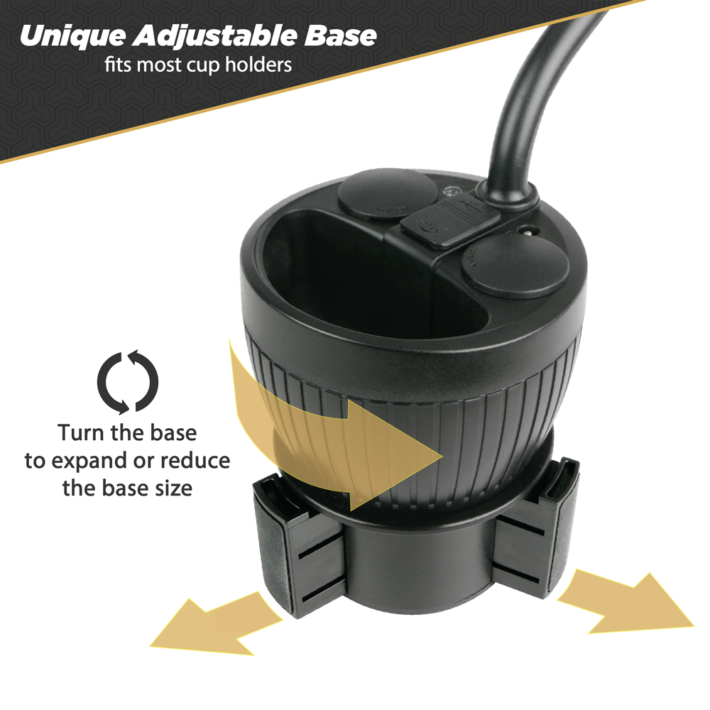 Scosche PowerHub Cup-Holder Phone Mount and Charging Hub