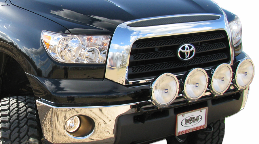 N-Fab 07-13 Toyota Tundra Light Bar with Tabs - Gloss Black- Ships Free