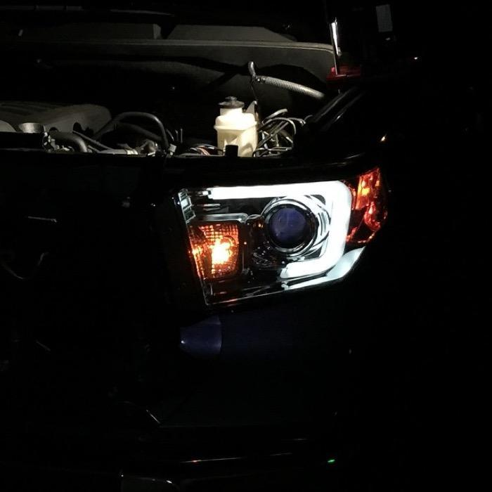 Spyder Auto 2014-2018 Projector Headlights - Light Bar DRL