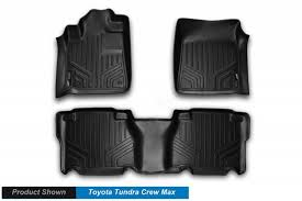 Toyota Tundra Front and Rear Rubber Mats Black