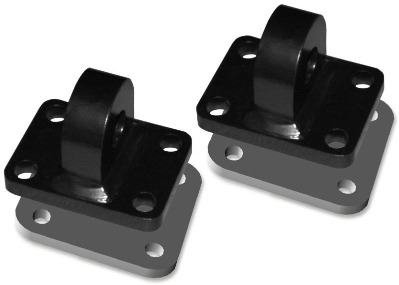 HD Shackle Mounts with Backing Plates - Pair
