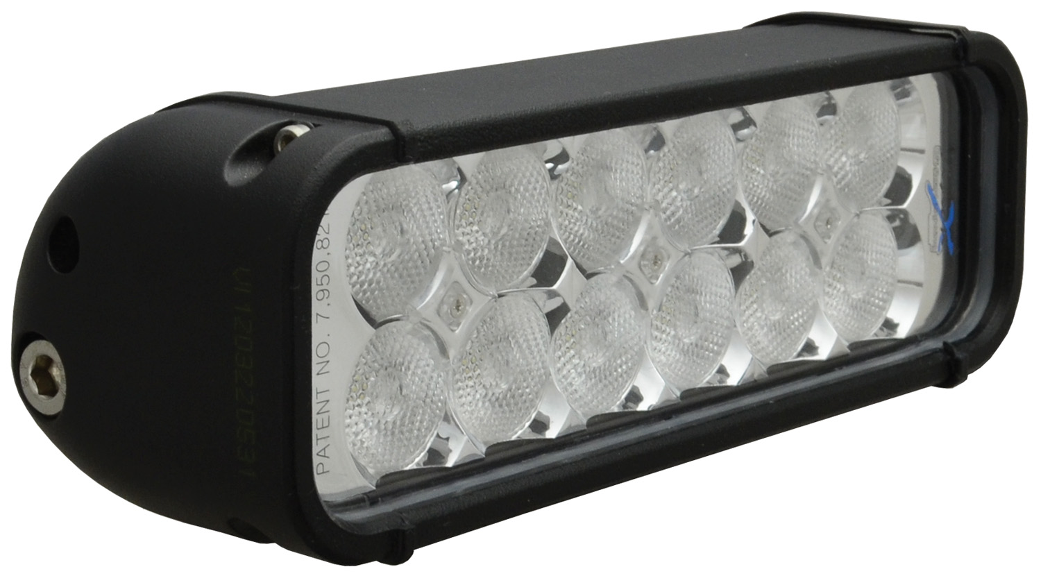 "8"" XMITTER LED BAR BLACK 12 3W LED'S FLOOD"