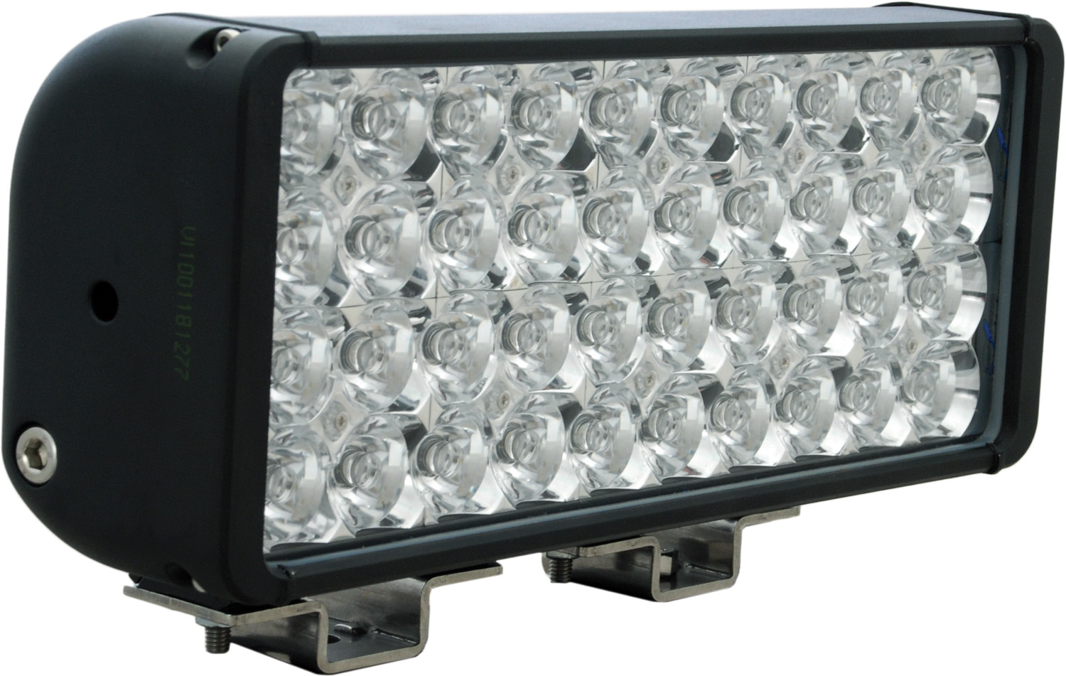 "12"" XMITTER DOUBLE BAR BLACK 40 3W LED'S EURO"