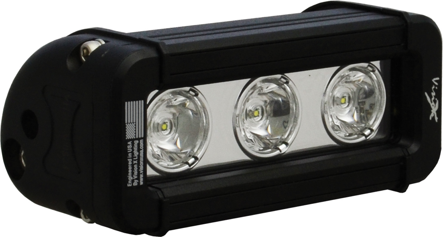 "5"" XMITTER LOW PROFILE BLACK 3 3W LED'S 10ç NARROW"