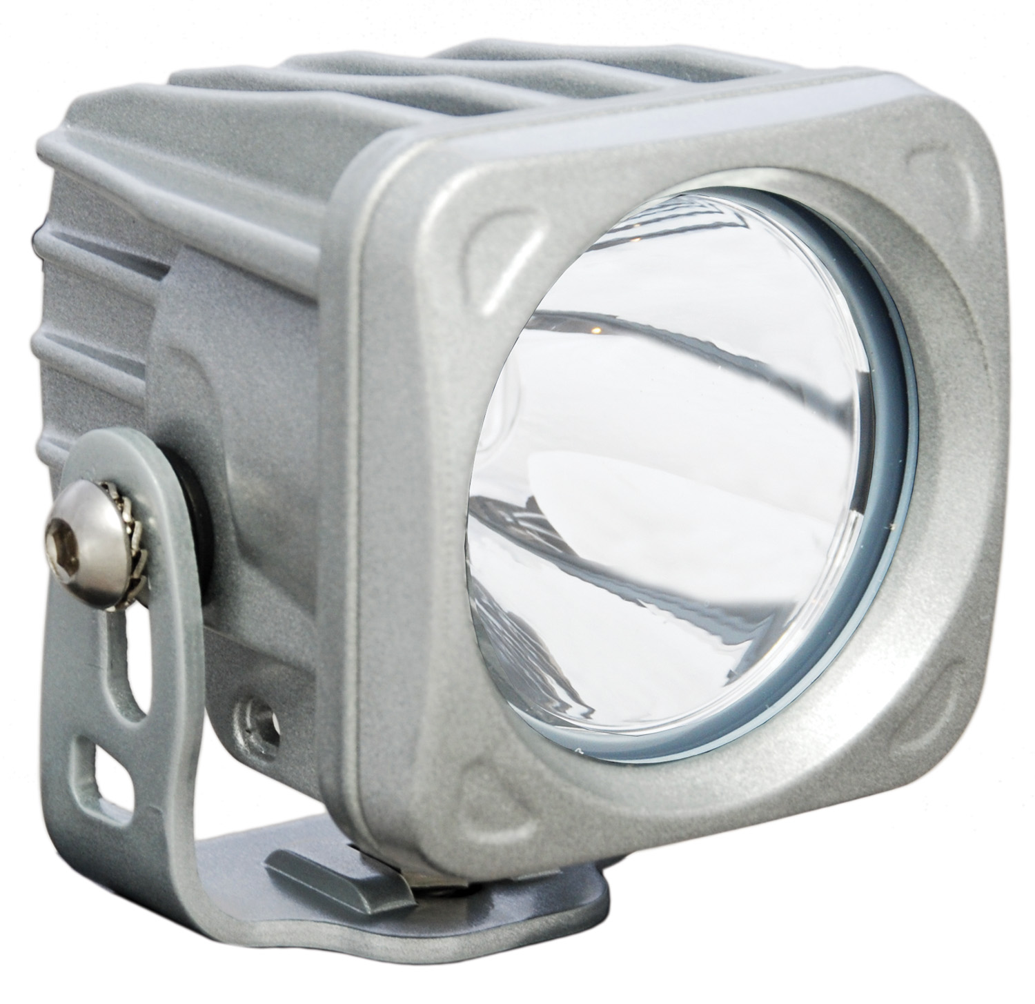 OPTIMUS SQUARE SILVER 1 10W LED 10° NARROW