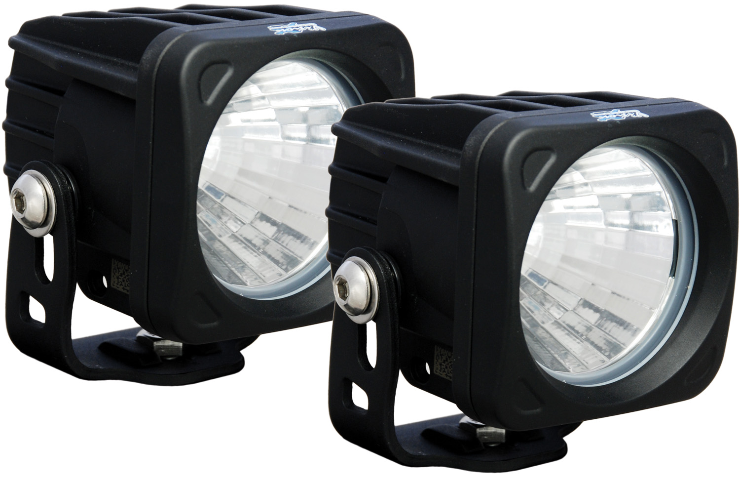 OPTIMUS SQUARE BLACK 1 10W LED 20° MEDIUM KIT OF 2 LIGHTS
