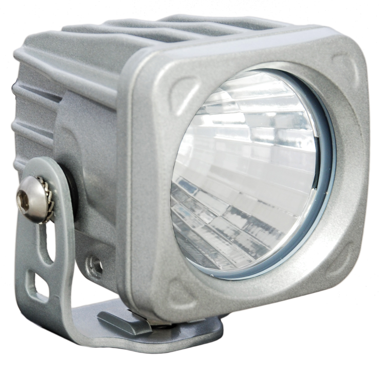 OPTIMUS SQUARE SILVER 1 10W LED 20° MEDIUM