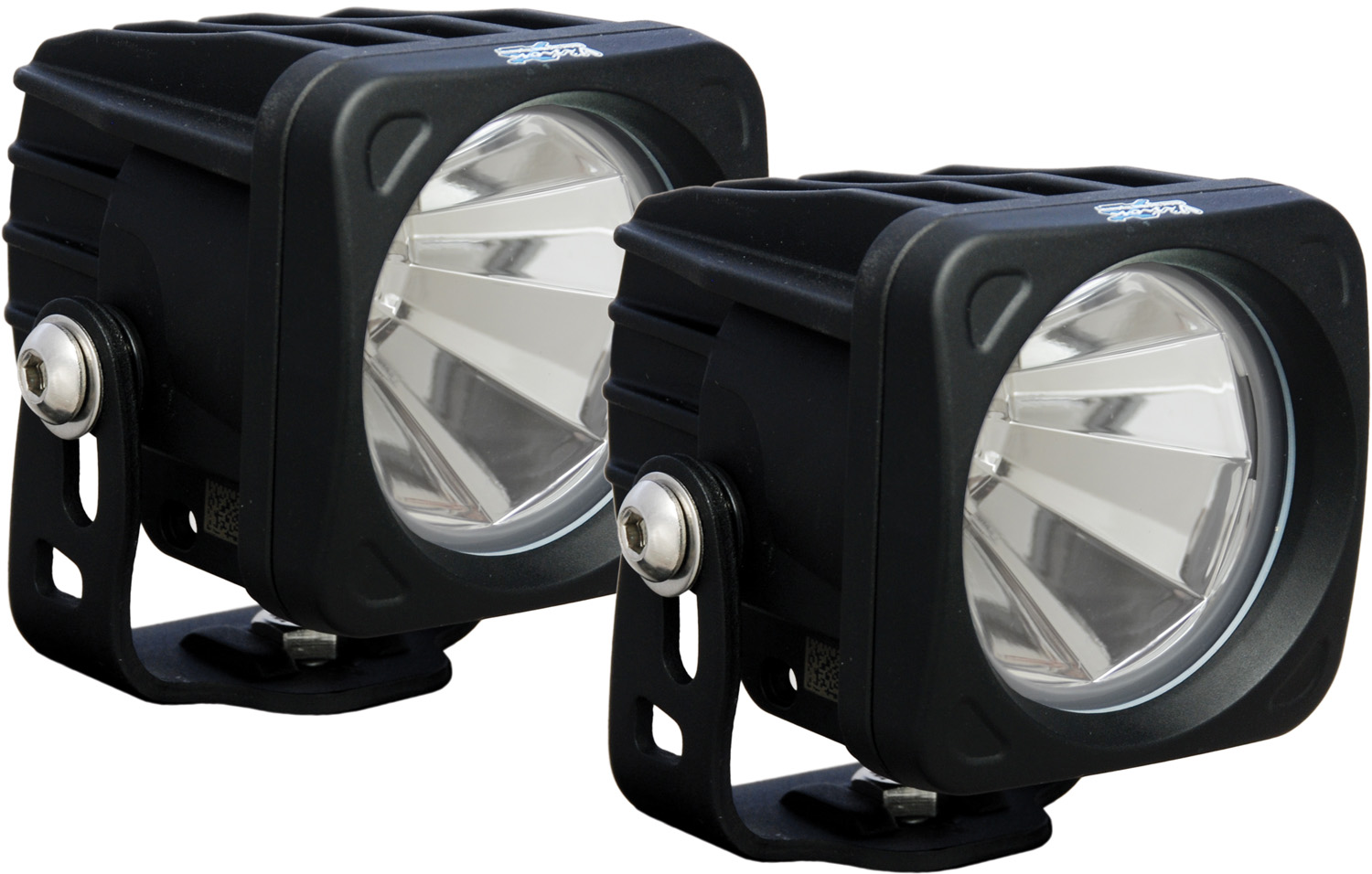 OPTIMUS SQUARE BLACK 1 10W LED 60° FLOOD KIT OF 2 LIGHTS