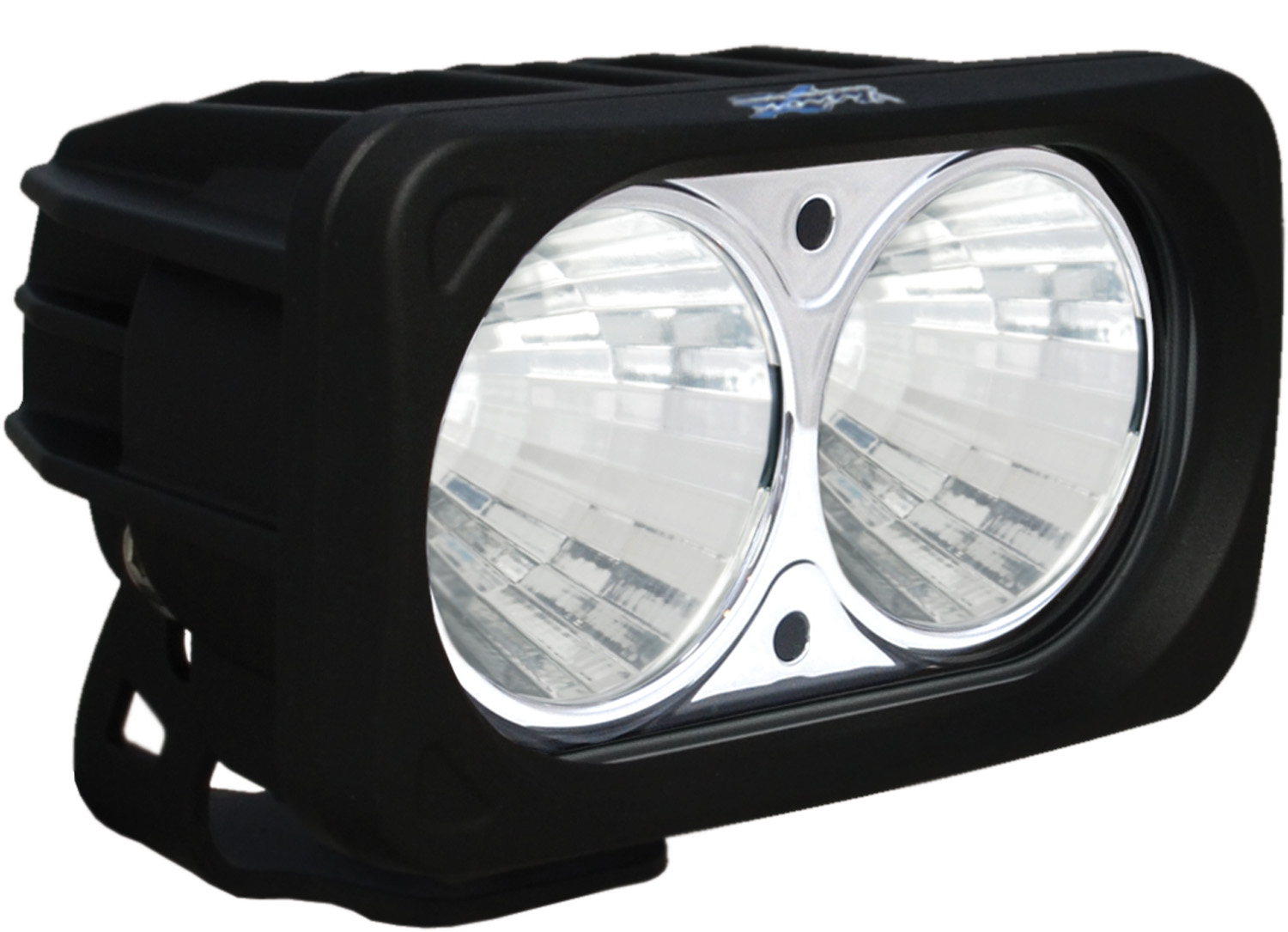 OPTIMUS SQUARE BLACK 2 10W LEDS 20° MEDIUM