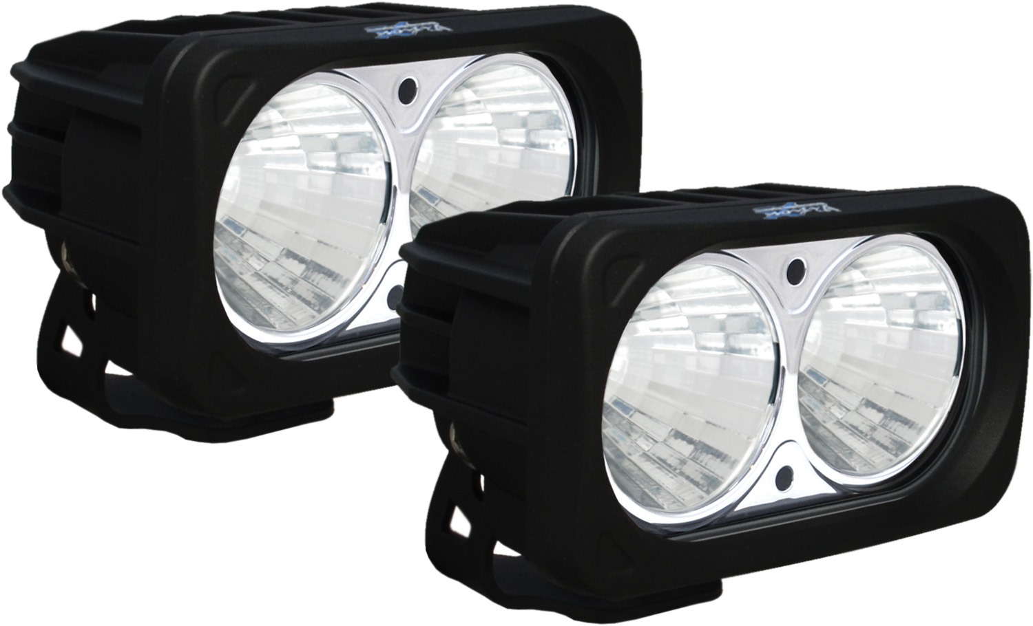 OPTIMUS SQUARE BLACK 2 10W LEDS 20° MEDIUM KIT OF 2 LIGHTS
