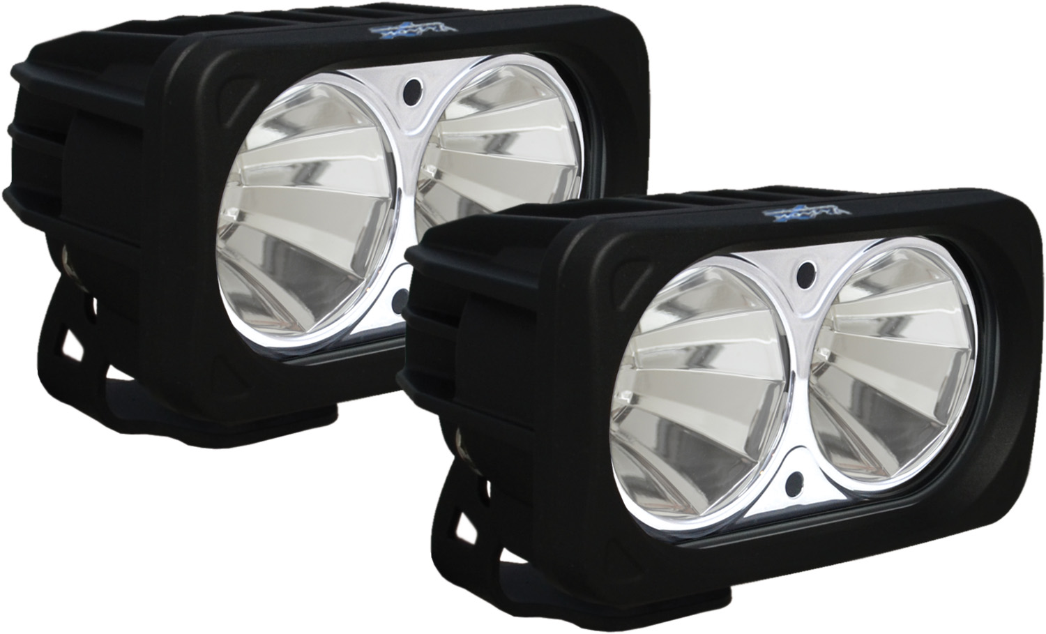 OPTIMUS SQUARE BLACK 2 10W LEDS 60° FLOOD KIT OF 2 LIGHTS