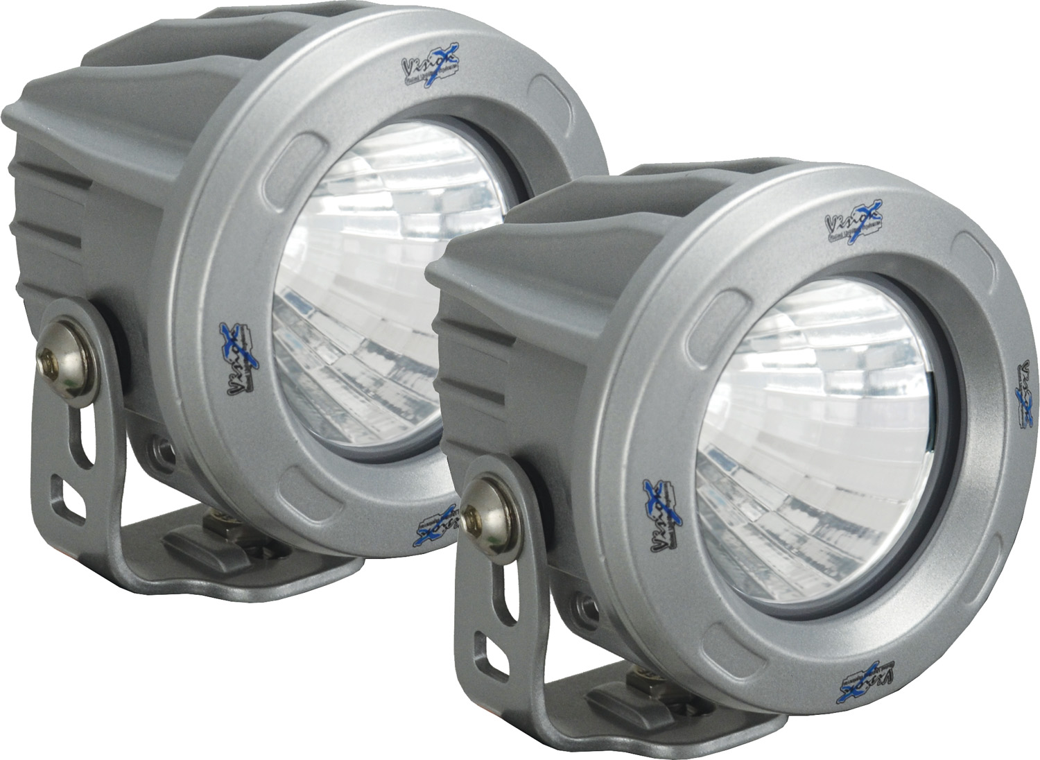 OPTIMUS ROUND SILVER 1 10W LED 10ç NARROW KIT OF 2 LIGHTS