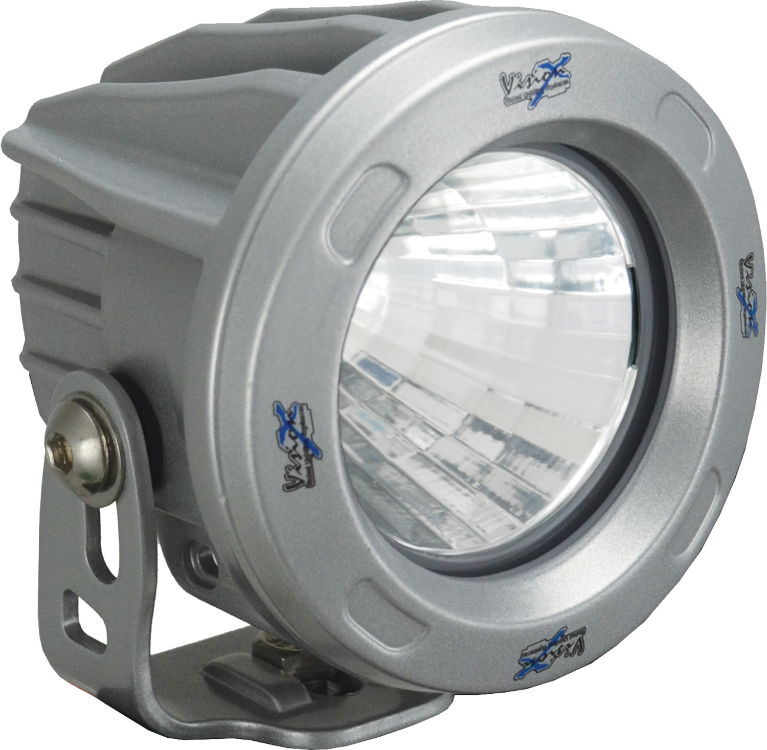 OPTIMUS ROUND SILVER 1 10W LED 60ç FLOOD