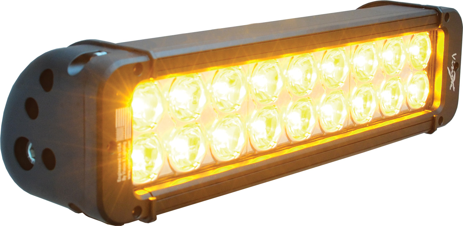 "11"" XMITTER PRIME AMBER LED BAR BLACK 18 5W LED'S 10ç NARROW"