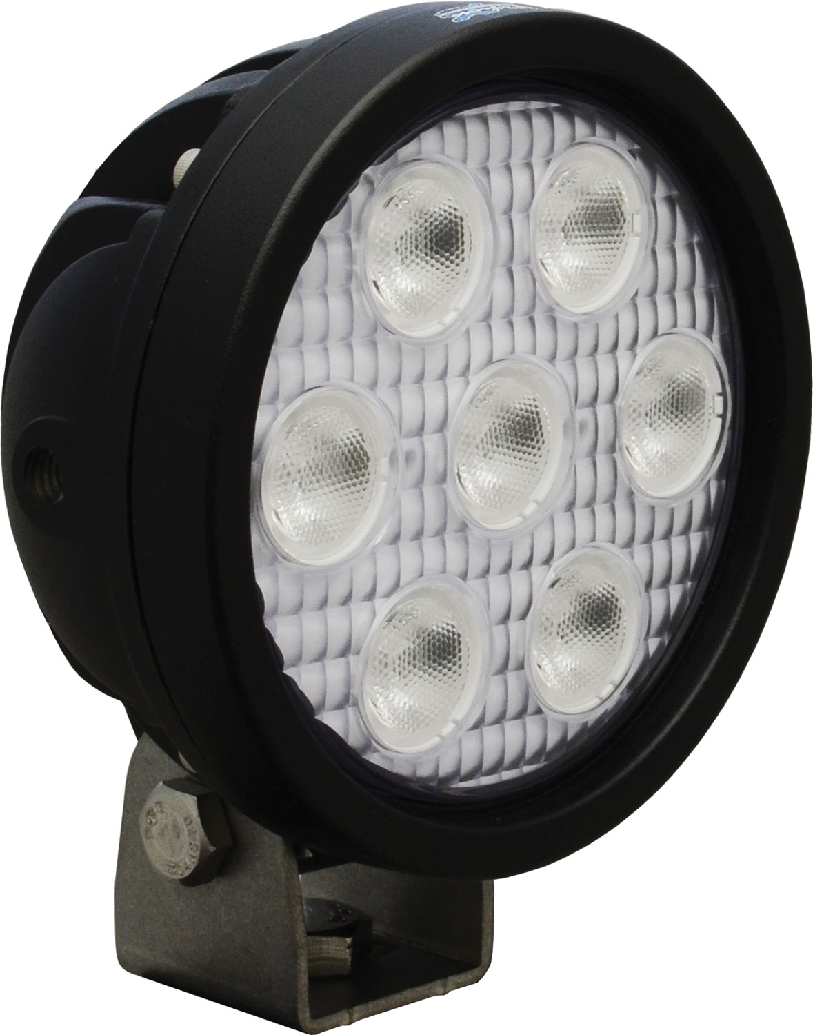 "4"" ROUND UTILITY MARKET BLACK 7 3W LED'S 40ç WIDE"