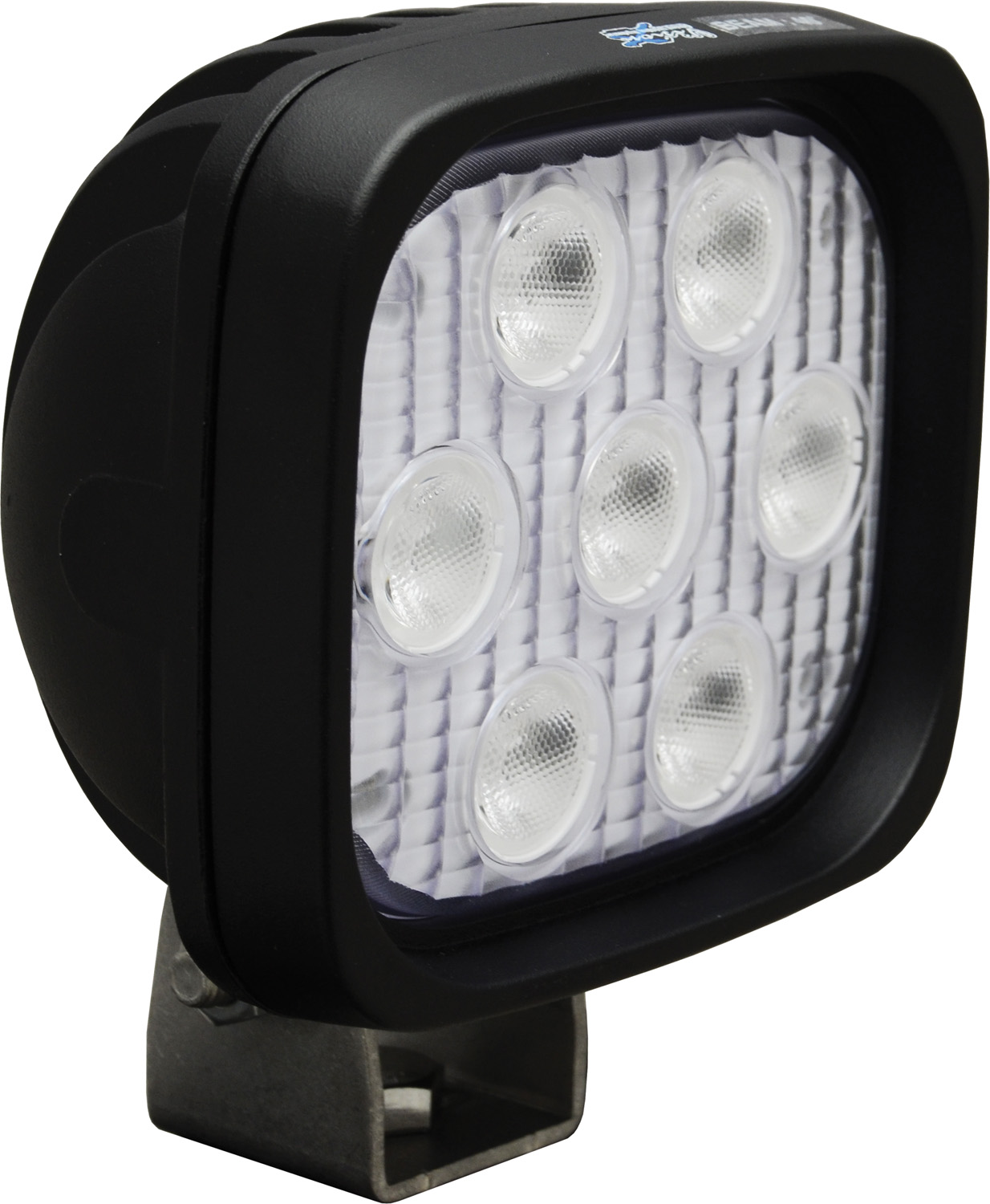 "4"" SQUARE UTILITY MARKET BLACK 7 3W AMBER LED'S 40ç WIDE"