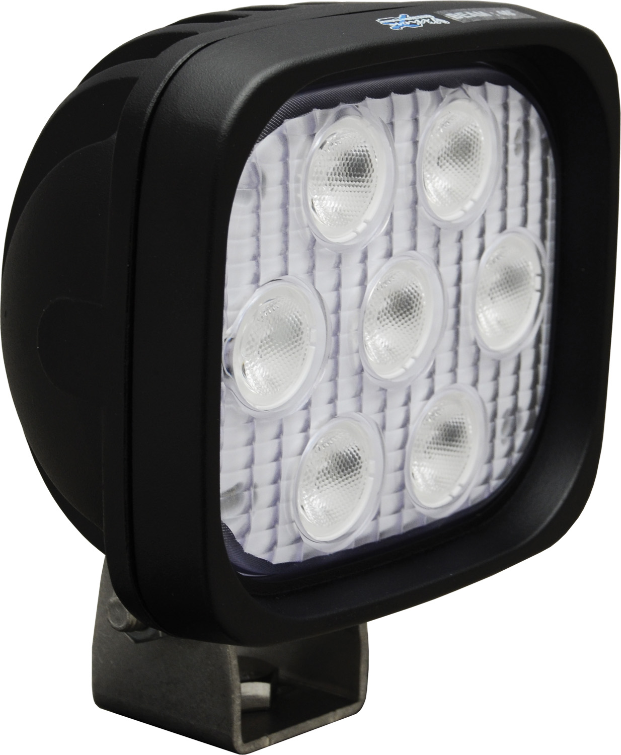 "4"" SQUARE UTILITY MARKET BLACK 7 3W BLUE LED'S 40ç WIDE"