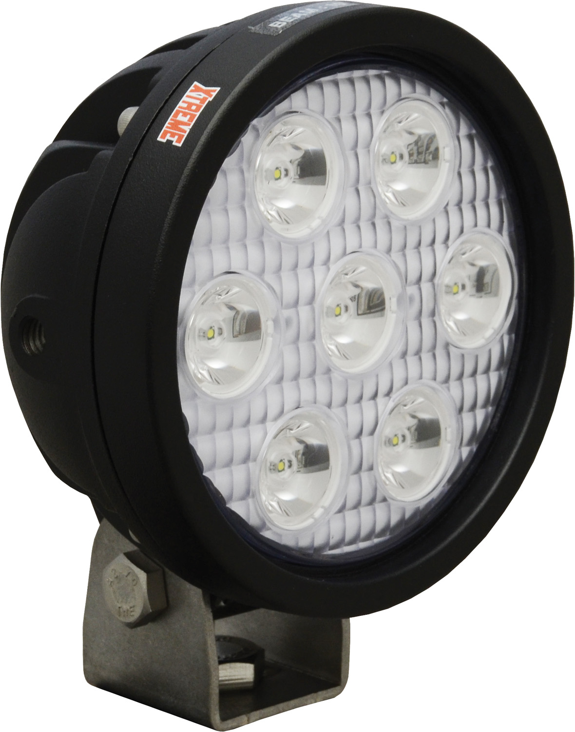 "4"" ROUND UTILITY MARKET XTREME BLACK 7 5W LED'S 10° NARROW"