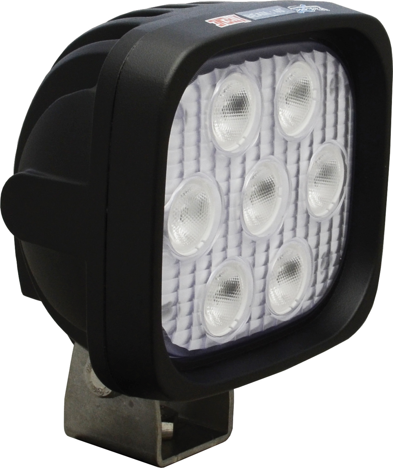 "4"" SQUARE UTILITY MARKET XTREME BLACK 7 5W LED'S 40ç WIDE"