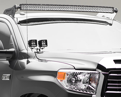 ZROAD_Front Roof Mount_Tundrab zroadz 2001 2017 tundra front roof led light bar mounting kit Wiring 12V LED Lights at fashall.co