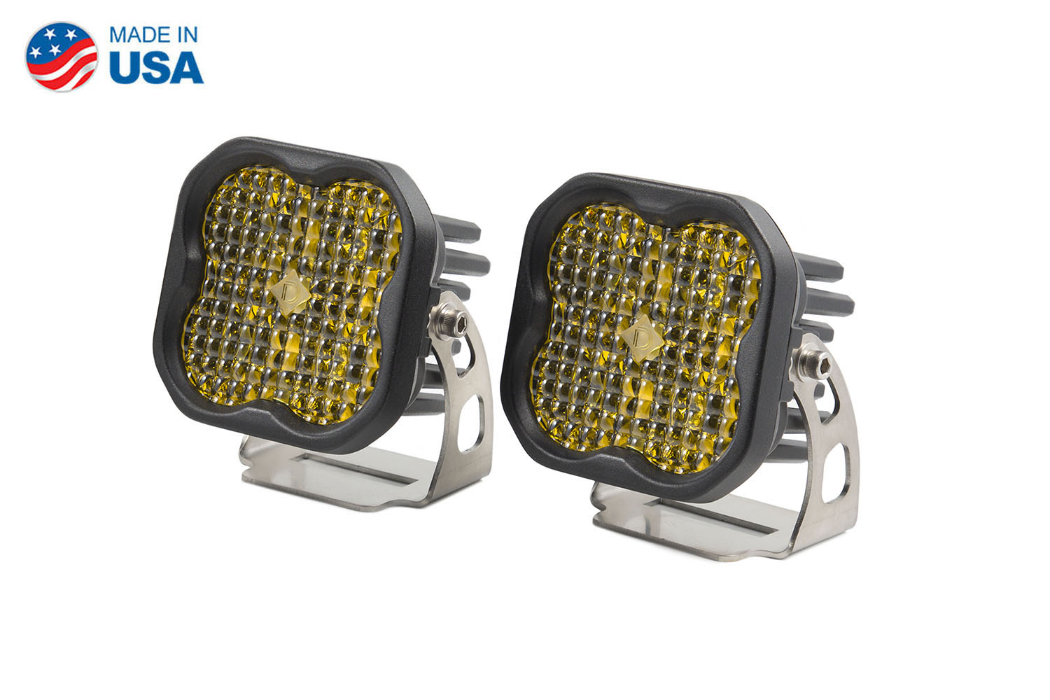 Diode Dynamics Worklight SS3 Sport Yellow Flood Standard (pair)