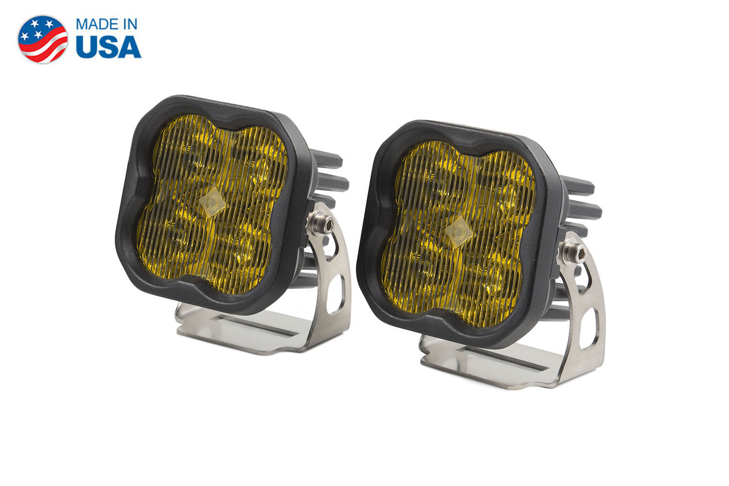 Diode Dynamics Worklight SS3 Sport Yellow SAE Fog Standard (pair)