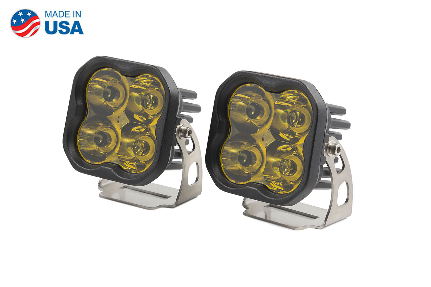 Diode Dynamics Worklight SS3 Pro Yellow Spot Standard (pair)