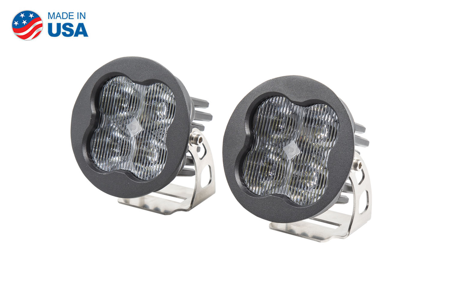 Diode Dynamics Worklight SS3 Sport White SAE Fog Round (pair)