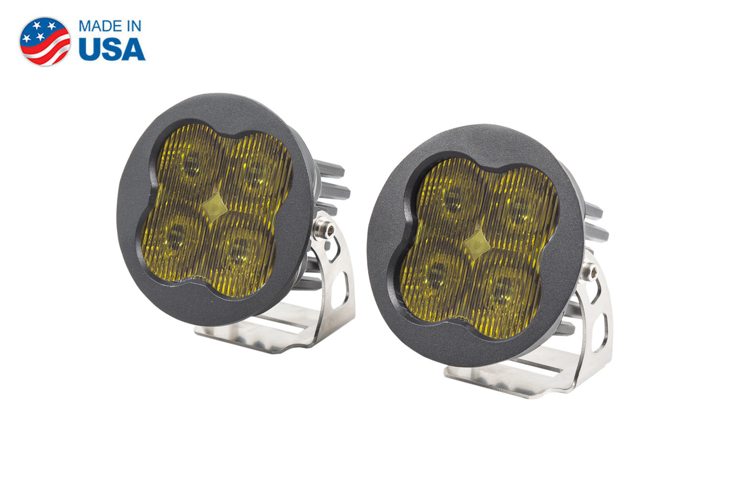 Diode Dynamics Worklight SS3 Sport Yellow SAE Fog Round (pair)