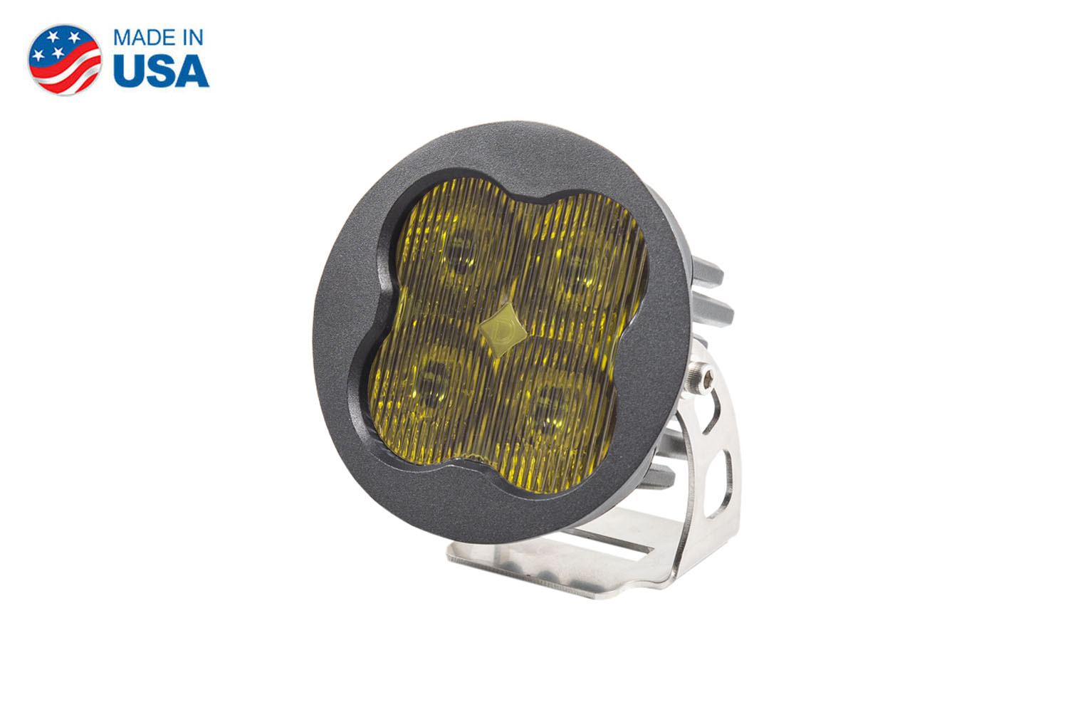 Diode Dynamics Worklight SS3 Pro Yellow SAE Fog Round (single)