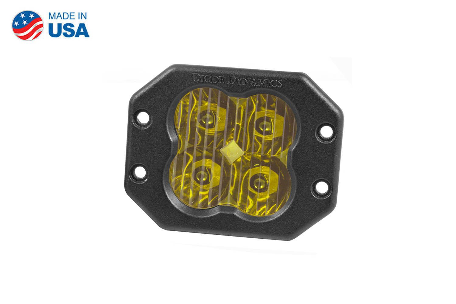 Diode Dynamics Worklight SS3 Sport Yellow Driving Flush (single)