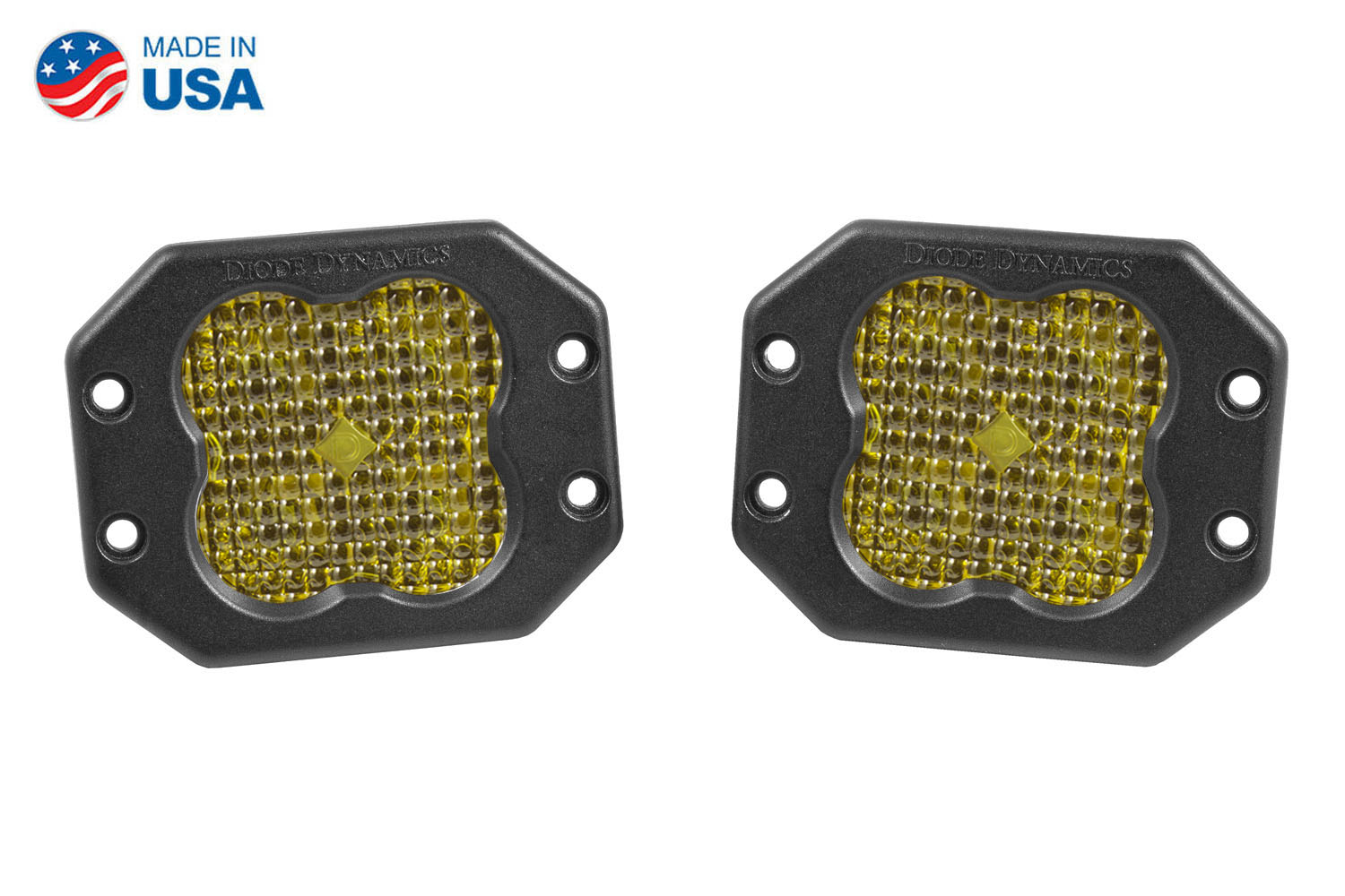 Diode Dynamics Worklight SS3 Sport Yellow Flood Flush (pair)
