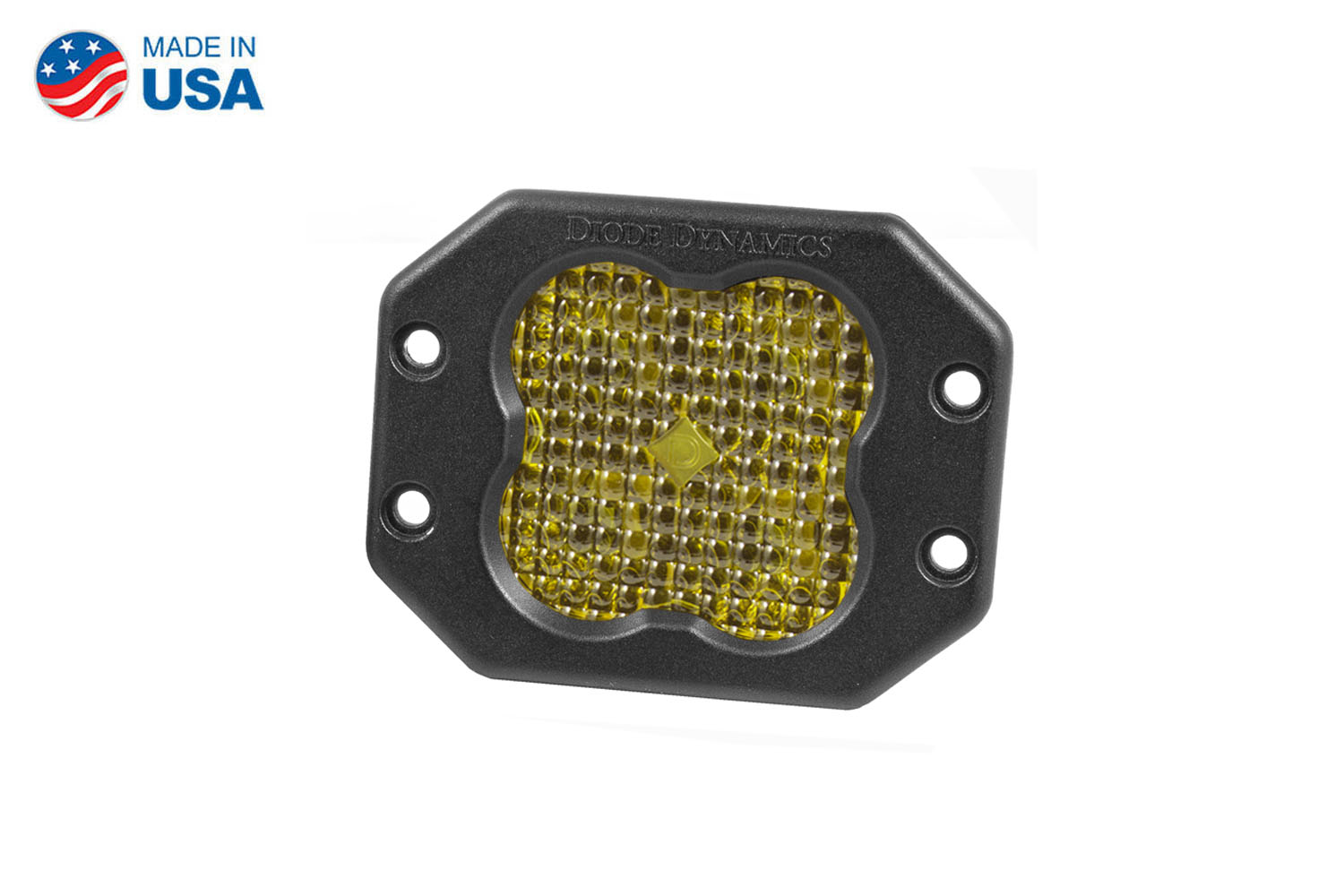 Diode Dynamics Worklight SS3 Sport Yellow Flood Flush (single)