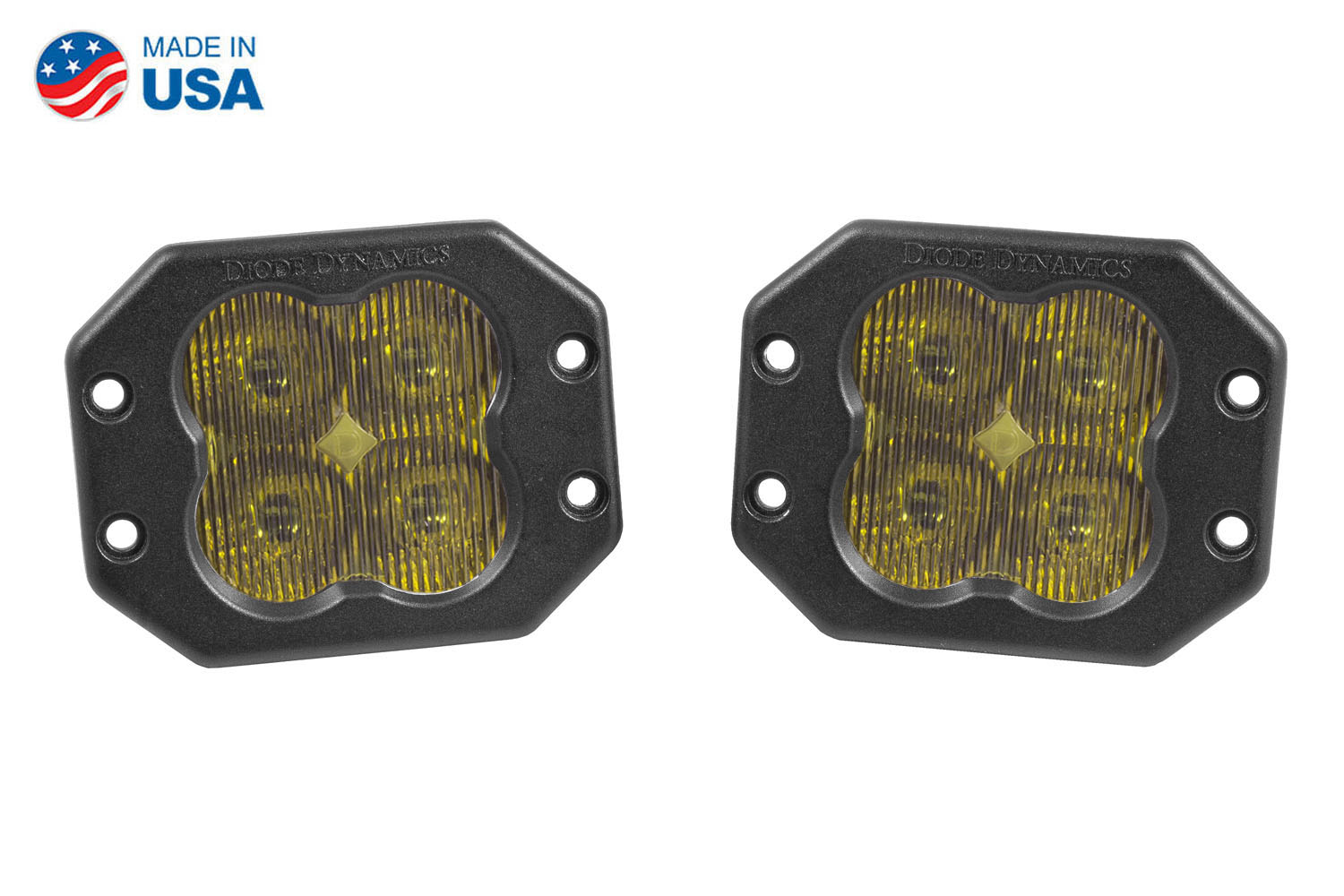 Diode Dynamics Worklight SS3 Pro Yellow SAE Fog Flush (pair)