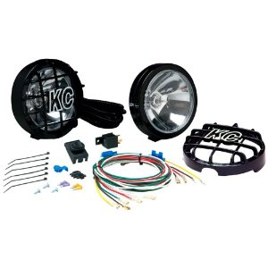 KC HiLiTES 127 SlimLite Black 100-Watt Fog Light System
