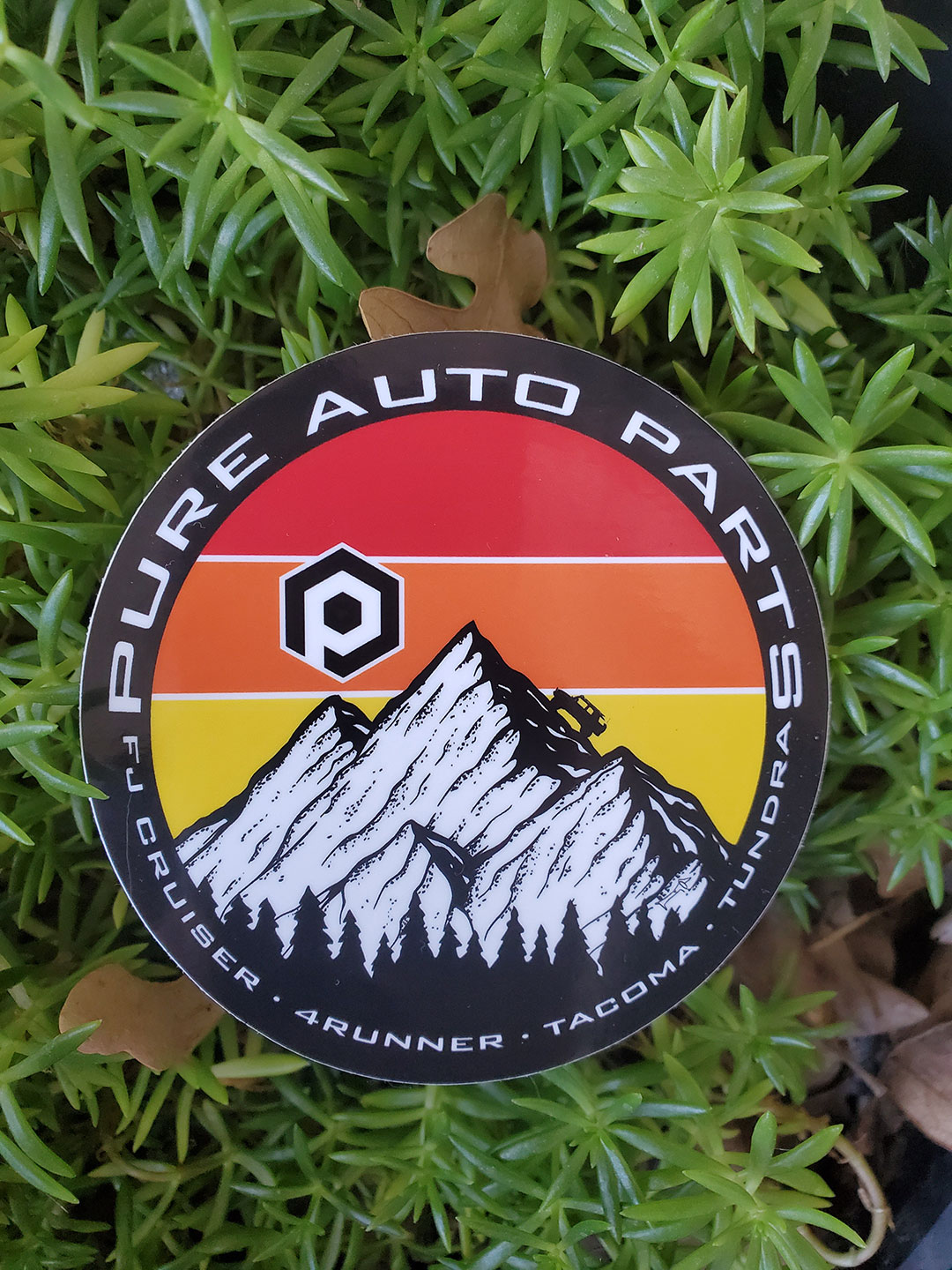 PURE AUTO PARTS - Overlanding Sticker w/ Traditional Toyota Stripes