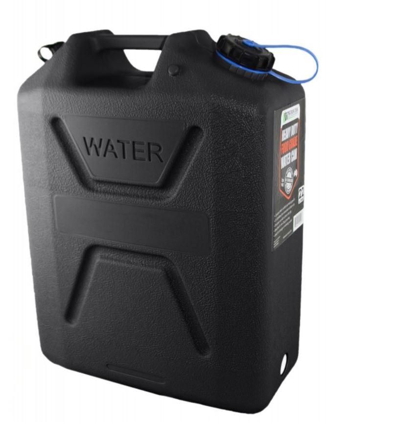 Wavian Heavy Duty Plastic 5 Gallon Water Can Black (1 can)