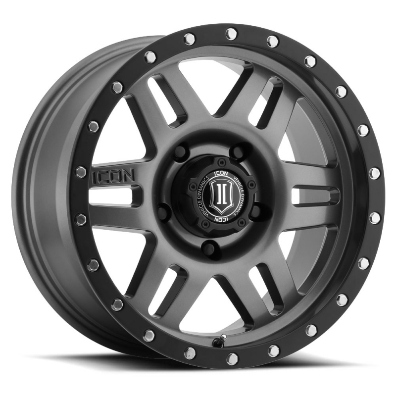 Icon Alloy Six Speed 17 inch 5x150 Tundra Wheels - Gun Metal Finish