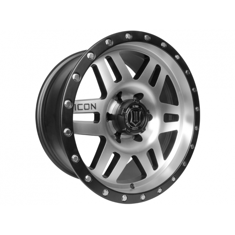 Icon Alloy Six Speed 17 inch 5x150 Tundra Wheels - Satin Black & Machine Finished