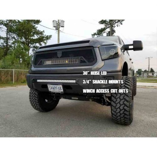 Southern Style Off-Road Tundra Slimline Hybrid Bumper w/ Access Holes & Heise 30 in. LED ; 2014+